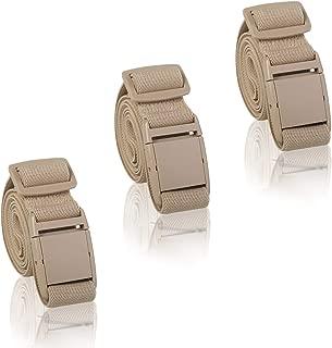 Women Invisible Elastic Belt - 3PCS Adjustable No Show Belt Plastic Flat Buckle