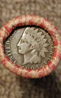 50 (Roll) Indian Head Cents Pennies; Good or Better
