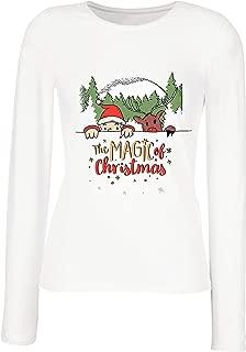lepni.me Women's T-Shirt Believe in The Magic of Christmas, Santa's Dwarf, Reindeer