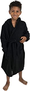 Leveret Kids Bathobe Boys Girls Terry Cotton Hooded Robe (Size 12 Months-16 Years) Variety of Colors