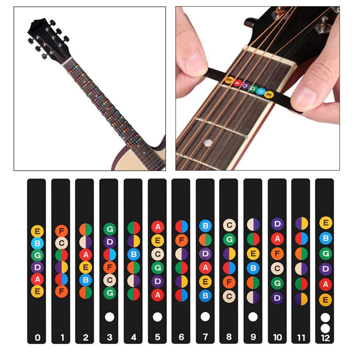 Funnyrunstore Guitarra Musical Escala Pegatina Guitarra Cuello ...