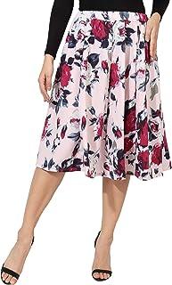 HIYA Digital Rose Print Women Inner Belt Polyester Skirt (Size - Small to 3XL)