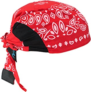 Radians RCS307 Arctic Skull Cooling Headshade, Red Paisley