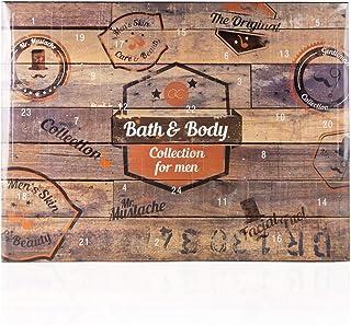 Calendrier de l'Avent de beauté Accentra pour hommes et garçons, contenu cosmétique pour les soins du corps, la peau et de...