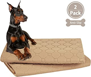 ULIGOTA Ultra Absorbent Washable Pee pad for Dog Antislip Waterproof Breathable Travel resuable Leak-Proof Dog Training Pads