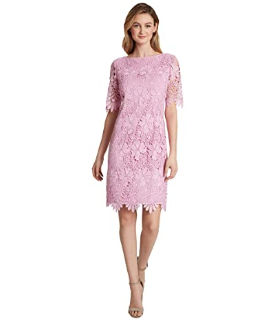 Tahari by ASL Petite Elbow Length Sleeve Sheath (Pink Gelato) Women