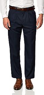 Amazon Essentials Men's Expandable Waist Classic-fit Pleated Dress Pants