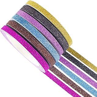 YUBX Glitter Washi Tape Ruban Adhésif Papier Décoratif Masking Tape pour Scrapbooking Artisanat de Bricolage (Glitter 6)