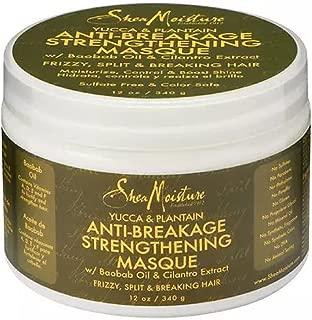 Shea Moisture Organic Yucca & Plantain Anti-Breakage Masque 12 oz (Pack of 3)