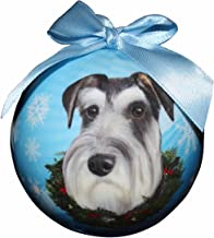 Schnauzer Christmas Ornament Shatter Proof Ball Easy to Personalize A Schnauzer Lovers