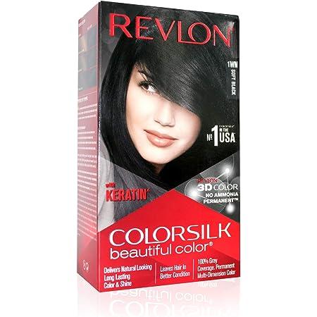 Revlon (Color Silk Hair Color (3D Color Gel Technology) with Keratin), Soft Black 1WN,