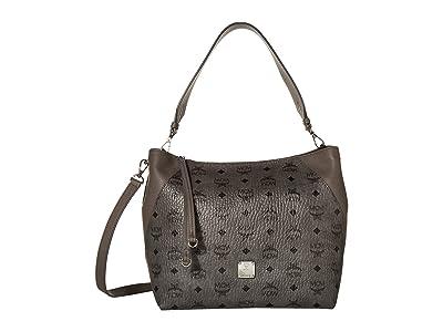 MCM Klara Visetos Hobo Medium (Phantom Grey) Handbags