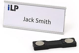 iLP - Juego de placas de identificación de aluminio con imán y clip, calidad profesional, 72x 32...