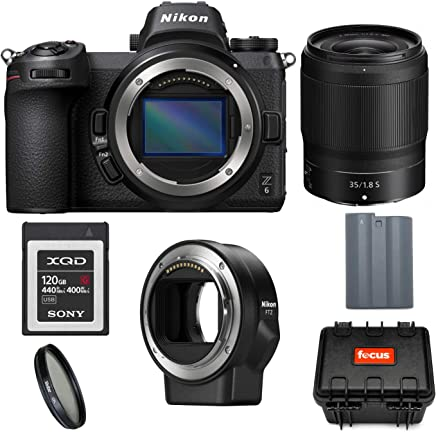 $2799 Get Nikon Z6 FX-Format Mirrorless Digital Camera with Nikkor Z 35mm f/1.8 S Lens and Mount Adapter FTZ with 120GB XQD Card and Accessory Bundle