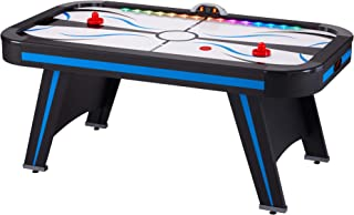Fat Cat Supernova 6' LED Illuminated Air Hockey Table with Durable Scratch Resistant Playing Field, and Integrated Light Automatic Light System