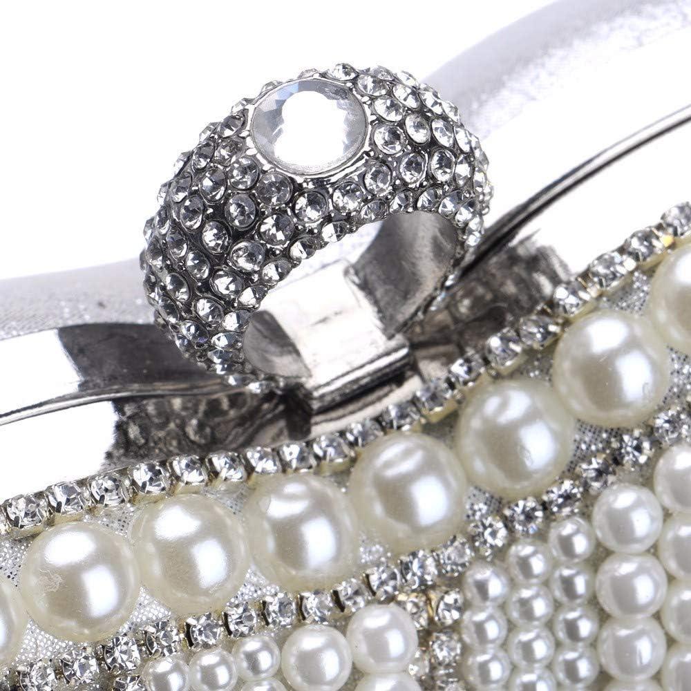 Olshansky Sac de soirée Europe et Amérique Dames Portable Robe de perle Fête de mariage Sac de bal Sac de bal Sac de banquet Une