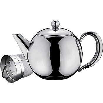 Belmont Deluxe en acier inoxydable Tea Pot, Acier inoxydable, Stainless Steel Handle, 1000ml