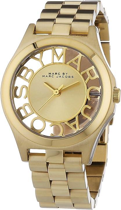 Marc Jacobs,orologio per donna,in acciaio inossidabile placcato oro MBM3292