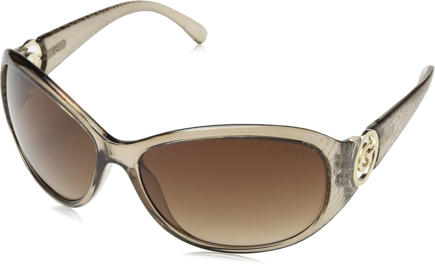 GUESS Women's Acetate Rectangle Shield Sunglasses CGRY34 65 mm