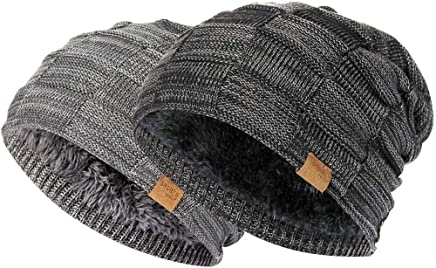 ee133d02d8c7 Vgogfly Slouchy Beanie for Men Winter Hats for Guys Cool Beanies Mens Lined  Knit Warm Thick