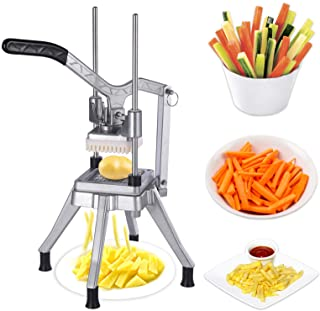 Sponsored Ad - Commercial Vegetable Fruit Dicer,Stainless Steel French Fry Cutter,Replaceable Fruit Chopper with 4 Anti-sl...
