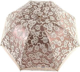 Orgrimmar Ladies Lace Parasol Umbrella Anti-UV Protection Sun Shade UPF 50+ Lightweight and Portable Folding Umbrella (Yellow)