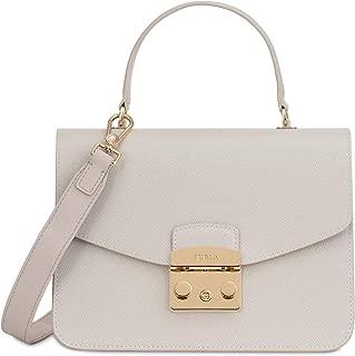 Metropolis Ladies Small White Perla Leather Shoulder Bag 978123
