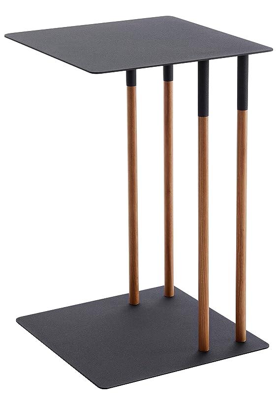 ネズミ世界の窓望ましい山崎実業(Yamazaki) サイドテーブル ブラック 約35X35X55cm PLAIN 4804