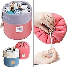 HARDENTERPRISE SHOPPERWORLD Bucket Barrel Shaped Cosmetic Make up Bag Travel Case Round Pouch