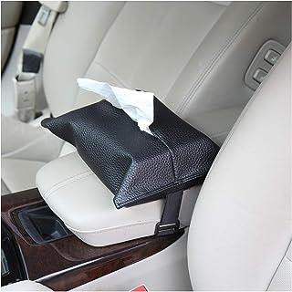 eJiasu Car Tissue Holder, Car Napkin Holder, Car Napkin Box, Tissue Box Cover Car Tissues Napkin Holder PU Leather for Car...