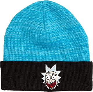 Cartoon Network Rick and Morty Rick Face Cuffed Adult Beanie Blue