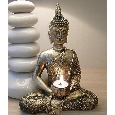 Something Different Resin Thai Buddha Tea Light Candle Holder Amazon Co Uk Kitchen Home