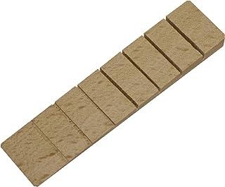 20x Richel Möbelkeile/Unterlegkeile/Ausgleichskeile aus Holz mit 7 Soll-Bruchstellen | Farbe: natur