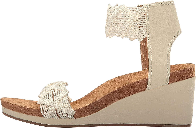 Lucky Brand Womens Kierlo Leather Open Toe Casual, Linen Micrame, Size 11.0