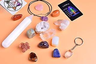 AMOYSTONE Natural 7 Chakra Mineral Mixed Lrregular Spiritual Chakra Charging Crystal Healing Stone Beginne Chakra Starter ...