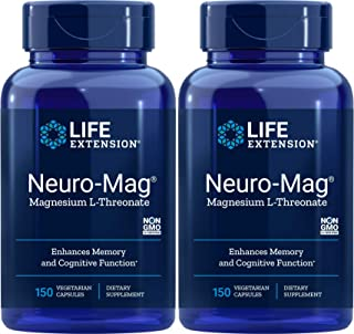 Life Extension Neuro-Mag 150 Veg Caps (Pack of 2), Magnesium L-Threonate, Magtein Supplement