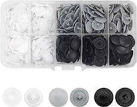 360 stks Pozi Schroef Cover Caps Plastic Schroef Cover Hoofd Fit Meest Phillips Schroef (Wit, Grijs, Zwart)