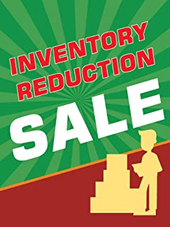 Inventory Reduction Sale Retail Display Sign, 18