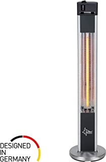 Suntec Wellness 13485 Calefactor Radiante Carbono para Terraza, 2000 W, Plata