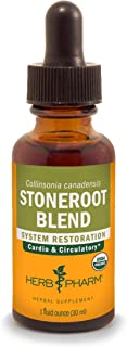 Herb Pharm Certified Organic Stoneroot Blend Liquid Extract for Cardiovascular and Circulatory Support, 1 Fl Oz (DCOLL01)