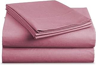 Luxe Bedding Sets - Microfiber Twin Sheet Set 3 Piece Bed Sheets, Deep Pocket Fitted Sheet, Flat Sheet, Pillow Case Twin Size - Light Pink