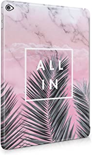 All In Tropical Palm Tree Vacation In Paradise Candy Pink Marble Plastic Tablet Snap On Back Case Cover Shell For iPad Air 2