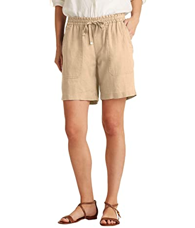 LAUREN Ralph Lauren Linen Drawcord Shorts (Birch Tan) Women