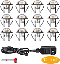12 Pack Low Voltage LED Deck Lights Kit Φ1.38