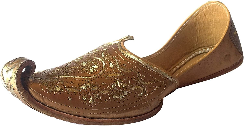 Step n Style Mens Punjabi Jutti Sherwani shoes Copper Cut Work Zari Khussa shoes Handmade Ethnic Footwear