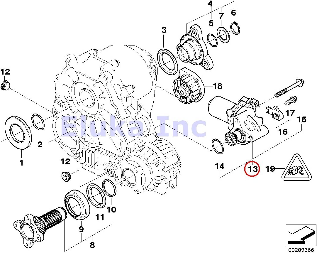 BMW Transfer Case Motor Actuator Many popular brands Translated 530xi 535xi 528xi 525xi