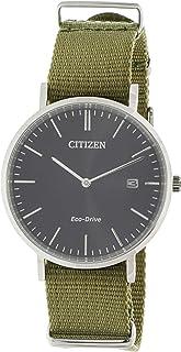 Citizen Eco-Drive Stainless Steel Nylon Strap Mens Watch AU1080-38E