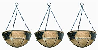 GARDEN KING 10 INCH Butterfly Design Coir Hanging Basket with Chain (Set of 3) Coir Hanging POTS for Plants Balcony