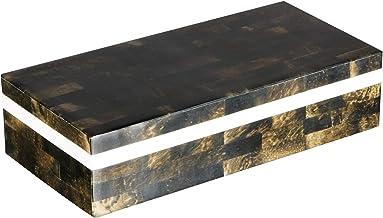 خانه های صنایع دستی - جعبه های هدیه جواهر - سازماندهی های تزئینی و جعبه ذخیره سازی برای زنان دختران دفتر اتاق خواب، گنجه - ساخته شده از استخوان بوفالو، آثار هنری رزین و کیفیت عالی کاج MDF چوب