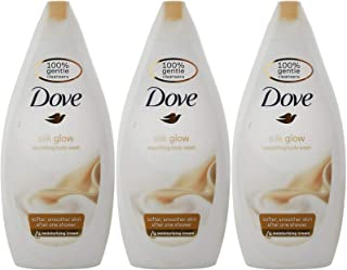 Dove Silk Glow Nourishing Body Wash, 16.9 Ounce / 500 Ml (Pack of 3)